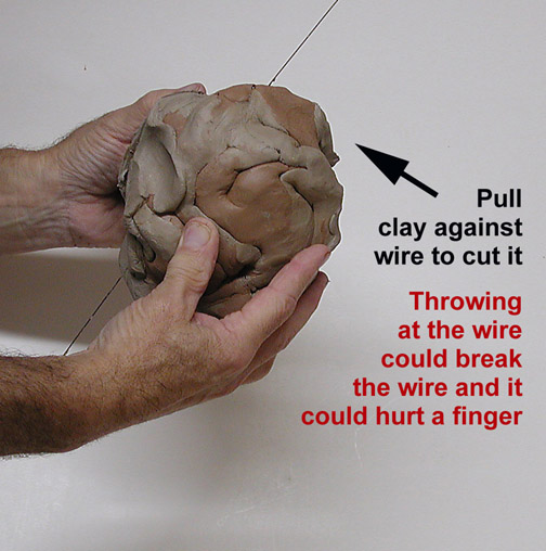 How to cut a lump of clay